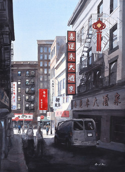Red Banner in Chinatown
