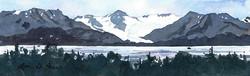 Glaciers Over Kachemak Bay II