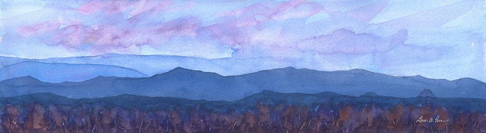 Sunset over the Blue Ridge