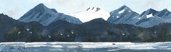 Glaciers Over Kachemak Bay I