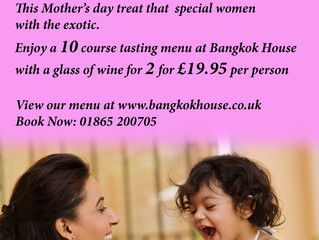 Mother's Day with Bangkok House