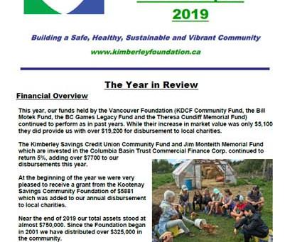 KDCF Annual Report Released