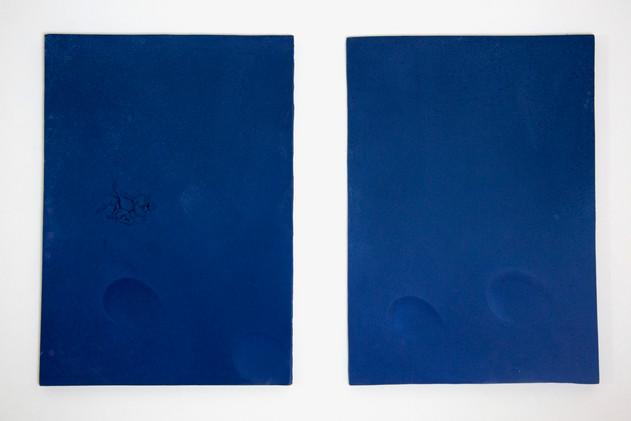Triptych in Blue