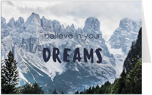 мотиваційна листівка, фотографія Італійських доломітів