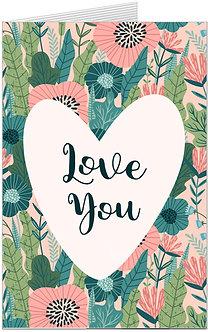 листівка для закоханих, сердечко з надписом я тебе кохаю