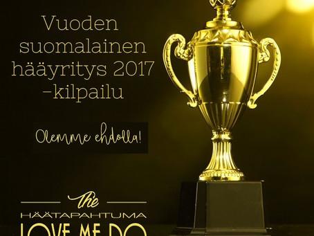 Calliola on ehdolla Vuoden suomalaiseksi hääyritykseksi 2017