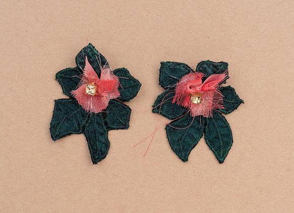 forest earrings (green)