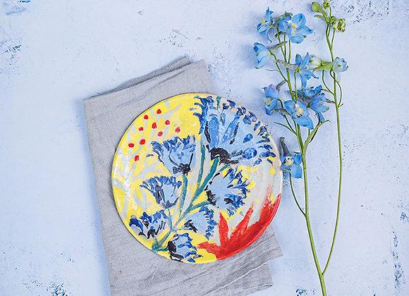 צלחת פרח בר