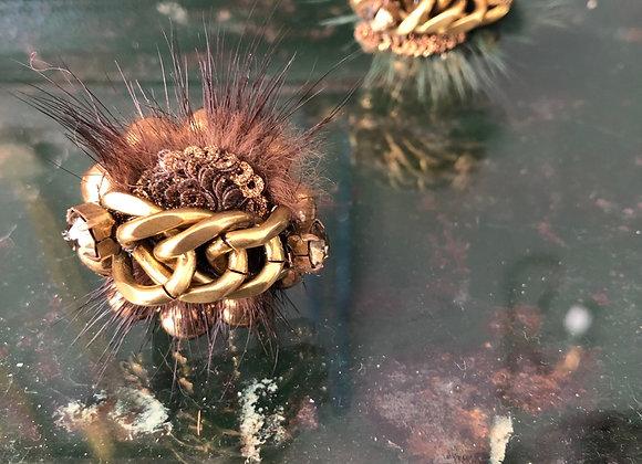 טבעת מאדאם חומה