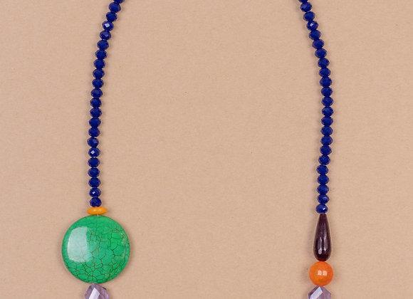 Morning glory purple neacklace