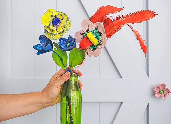 זר פרחים מצוייר פרובנס