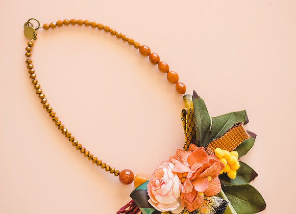 brown fall necklace