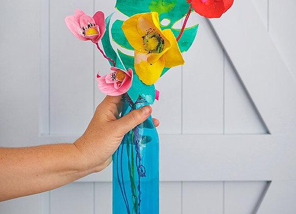 זר פרחים מצוייר הוואי