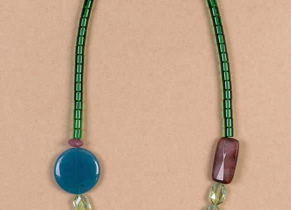 Morning glory green necklace