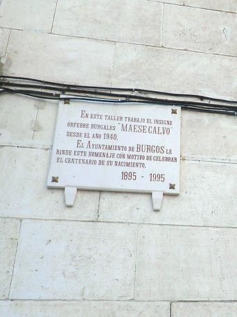 Placa conmemorativa de Maese Calvo (Burgos)