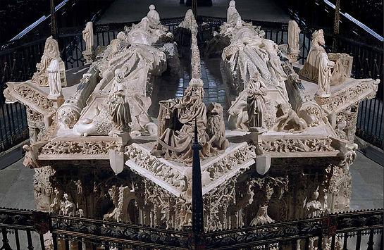 Sepulcro de Juan II de Castilla e Isabel de Portugal en la Cartuja de Miraflores (Burgos)
