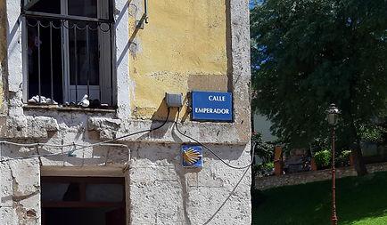 Placa de la Calle Emperador (Burgos)