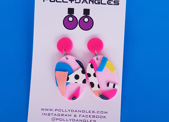 So 80's - pink ovals