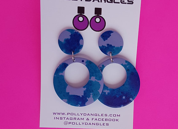 Purple Circles with blue ink