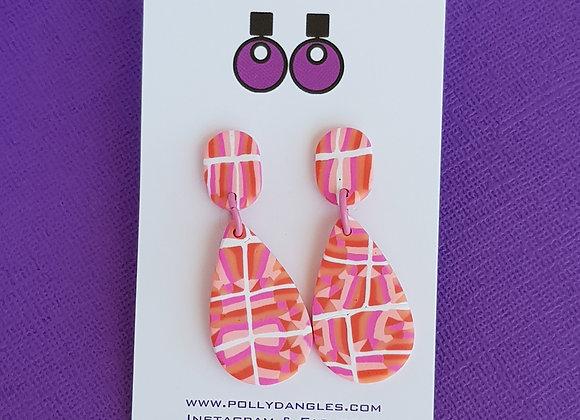 Peachy Pinks - Oval Teardrops