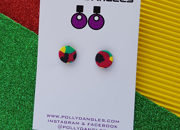 Rasta Charity Collection - Small studs