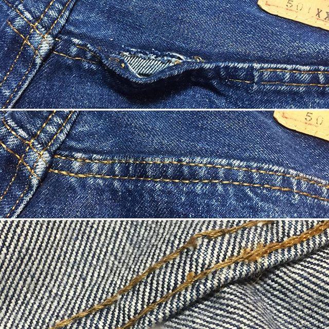 バックヨークの巻き縫い