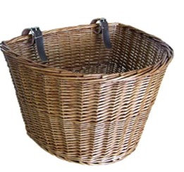 Traditional Wicker Bicycle Basket