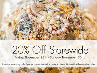 Black Friday & Small Business Saturday 20% Off Storewide Sale