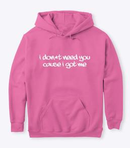 'Me' Pink Hoodie Front