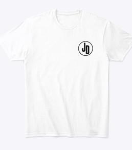 'JD' White Tshirt Front