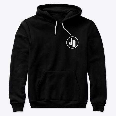 'JD' Black Hoodie Front