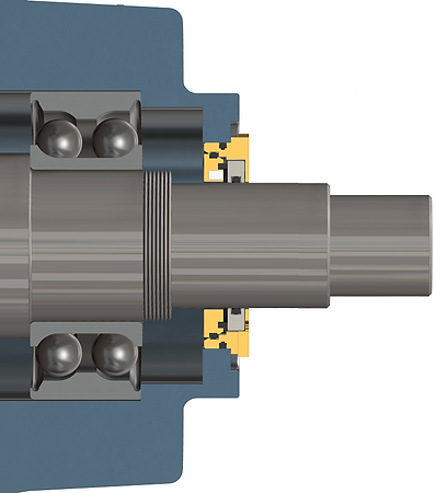 Isomag bearing isolator installed into an electric motor