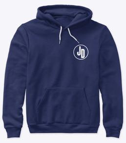 'JD' Hoodie Blue Front