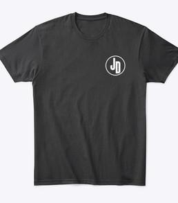 'JD' Tshirt Black Front
