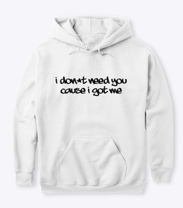 'Me' White Hoodie Front