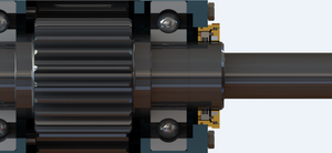 Gearbox with Isomag Bearing Isolator