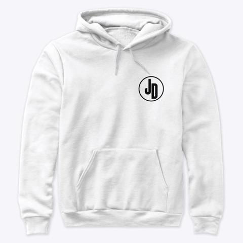 'JD' Hoodie White Front