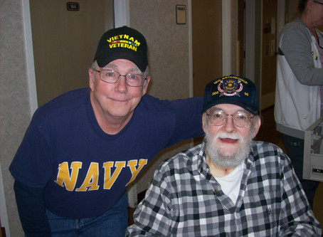 Navy ball cap delivery at the Spokane Veterans Home