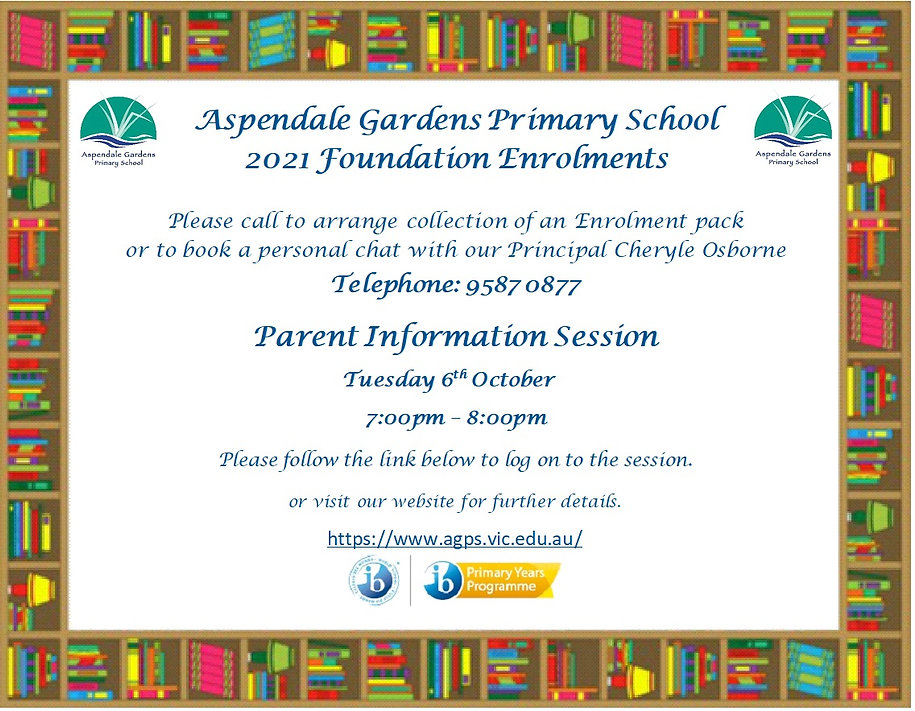 Transition Flyer for Kinders and Website