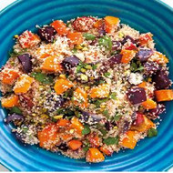 Couscous with Roasted Carrot and Beetroo