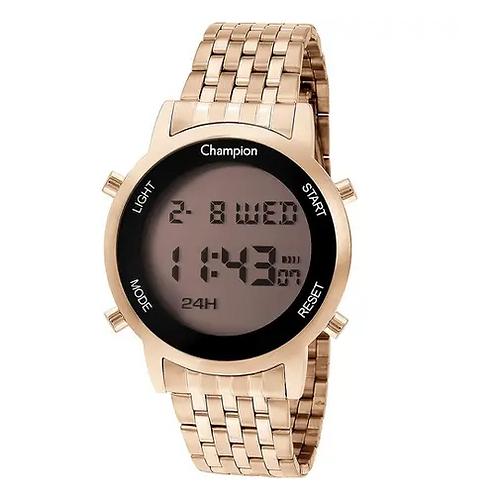 Relógio Champion Digital CH48091X Dourado  Digital 5 Atm Cristal Mineral Tamanho