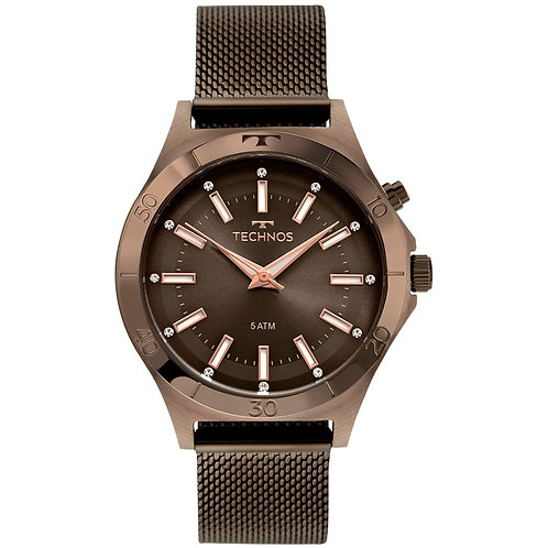 Relógio Technos Trend Feminino Marrom - Y121E3AE/1M