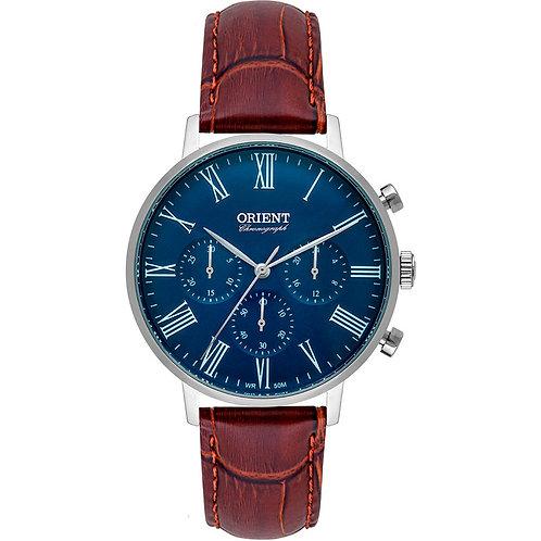 Relógio Orient Masculino Ref: Mbscc056 D3nx Cronógrafo Prateado