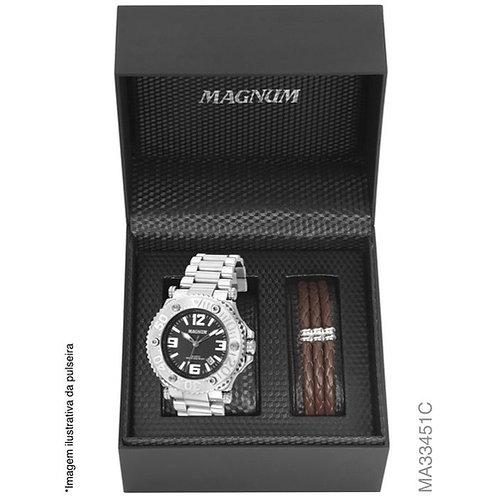 Kit Relógio Magnum Masculino MA33451C
