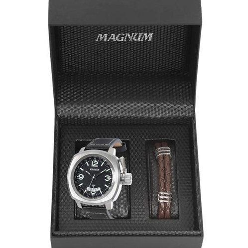 Relógio MAGNUM masculino analógico kit com pulseira MA34138C