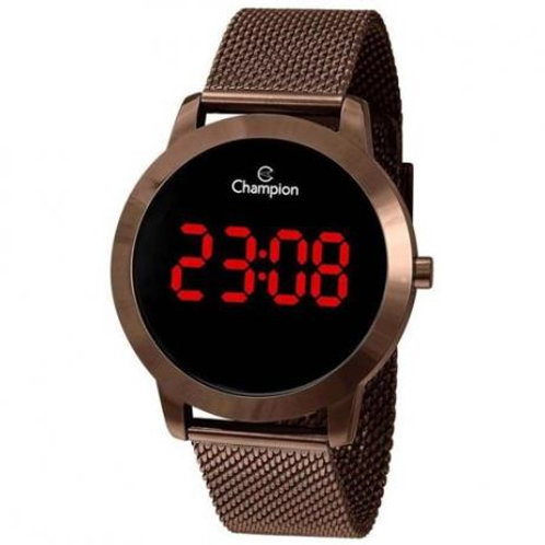 RELÓGIO CHAMPION FEMININO DIGITAL LED CHOCOLATE CH40106R
