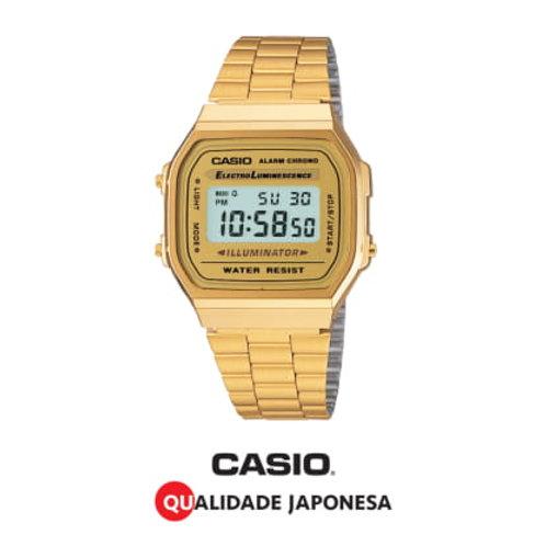 RELÓGIO CASIO UNISSEX MODELO – A168WG-9WDF