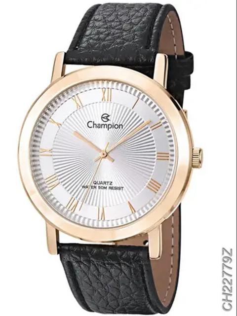 Relógio Champion Masculino Pulseira de Couro CH22779Z