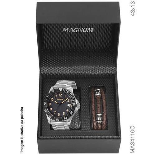 Kit Relogio Magnum Masculino MA34110C