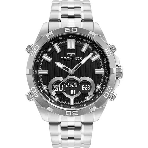 Relógio Prateado Masculino Technos Digiana BJK629AB/1P